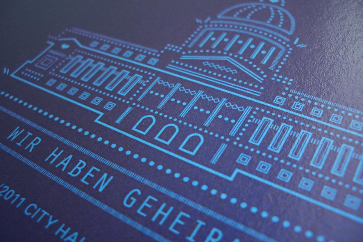 Gestaltung Postkarte Flyer Hochzeit